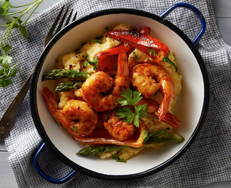 View recommended Cheesy Polenta with Shrimp recipe