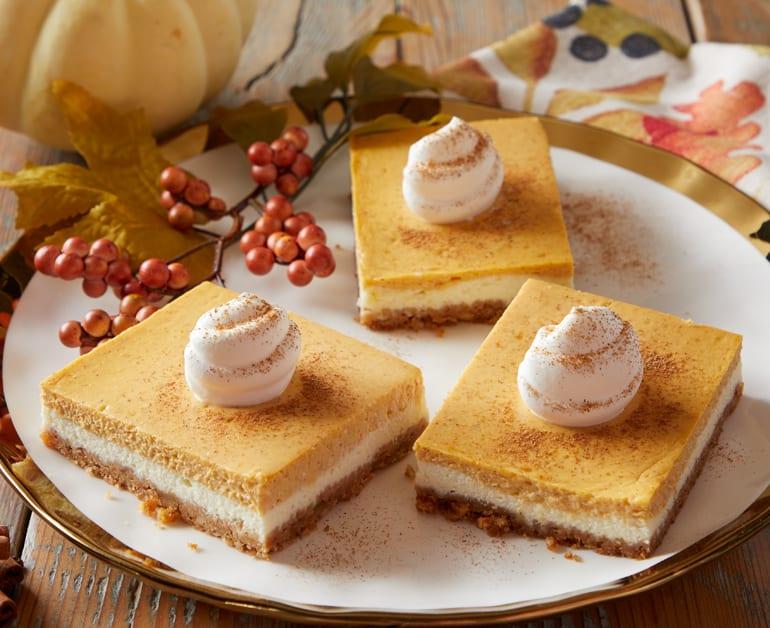 Pumpkin Cheesecake Bars slider image 1