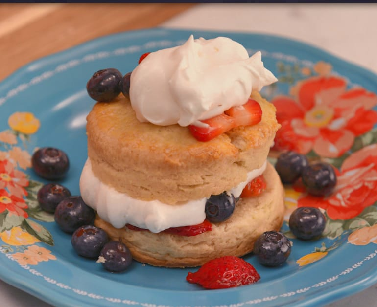 View recommended Berry Shortcakes with Sour Cream Biscuits recipe