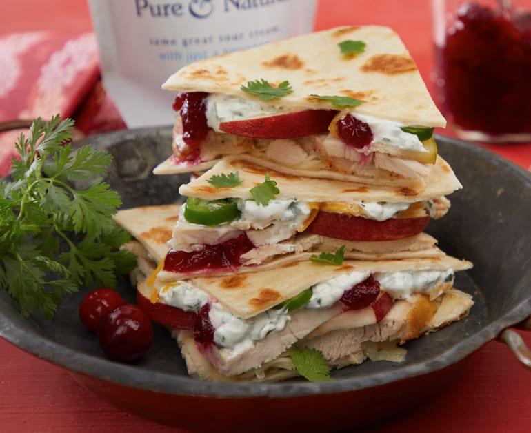 Turkey and Cranberry Quesadillas slider image 1