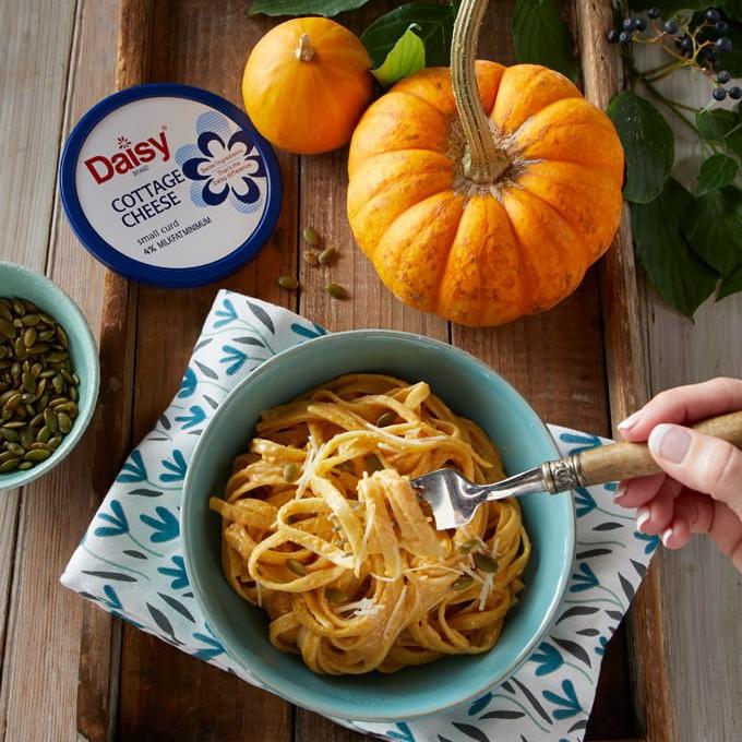 Creamy Pumpkin Fettuccine Alfredo