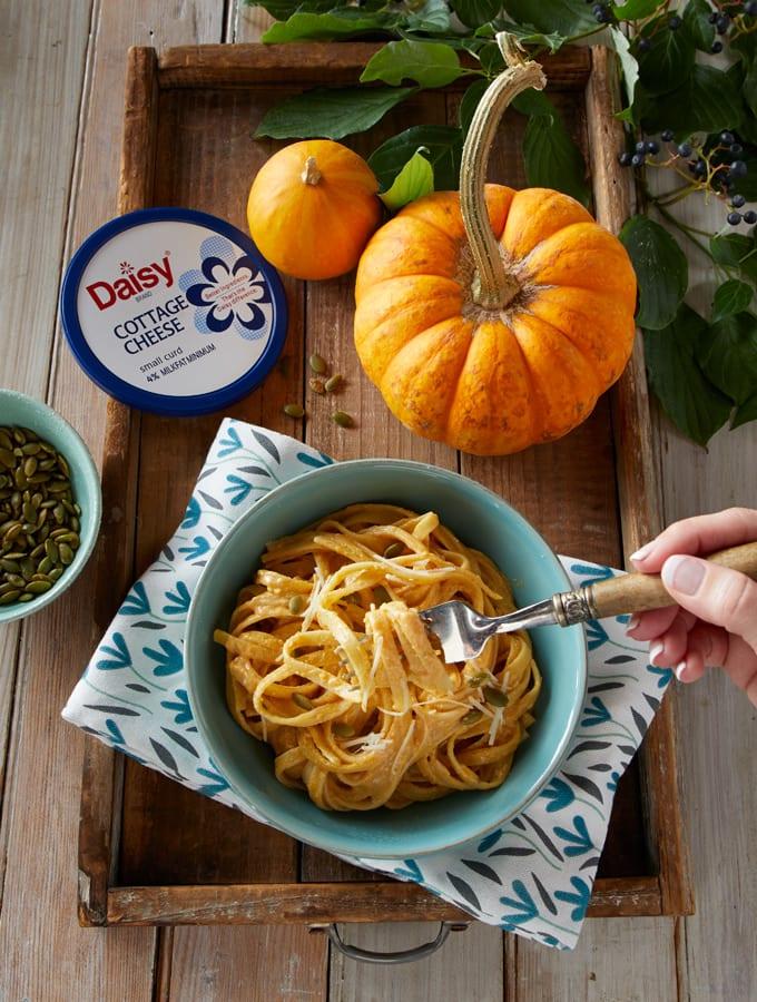 Creamy Pumpkin Fettuccine Alfredo slider image 2