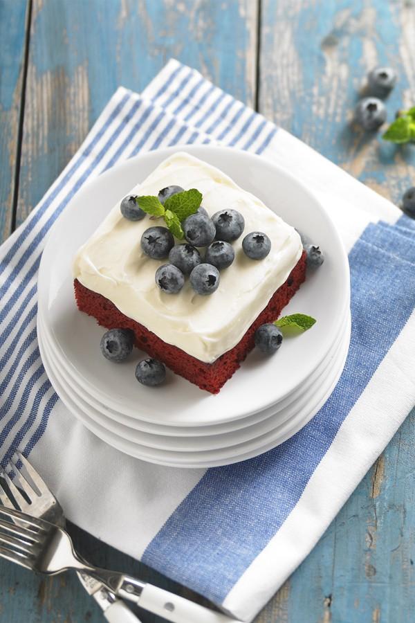 Daisy Sour Cream Red Velvet Cake