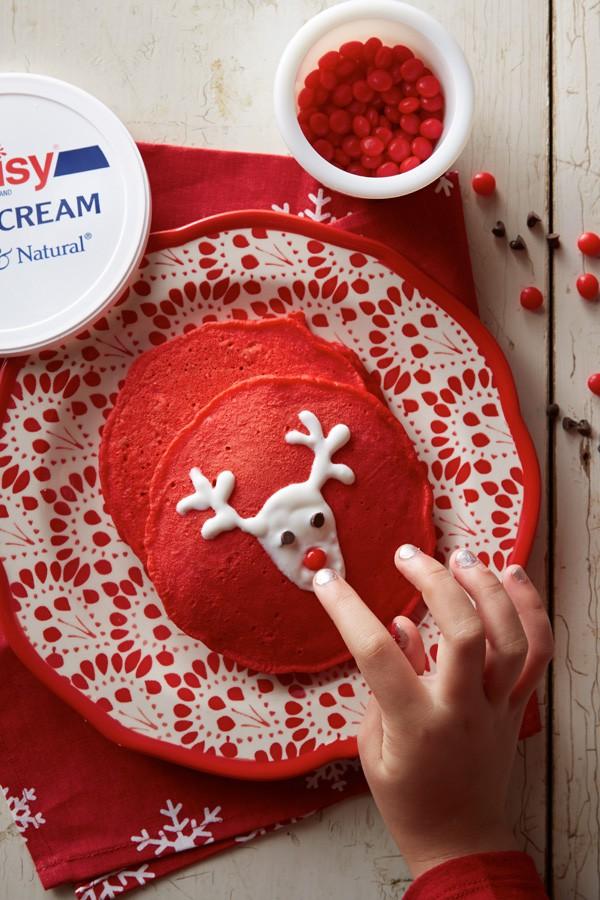 Red Velvet Pancakes Holiday
