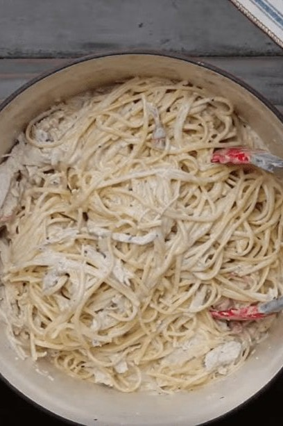 Sour Cream Pasta with Herb Roasted Turkey