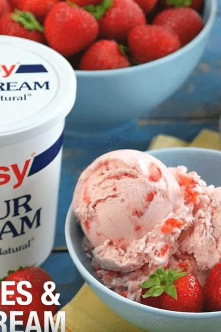 Strawberries and Ice Cream