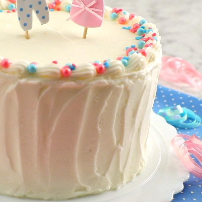 White Sour Cream Layered Cake