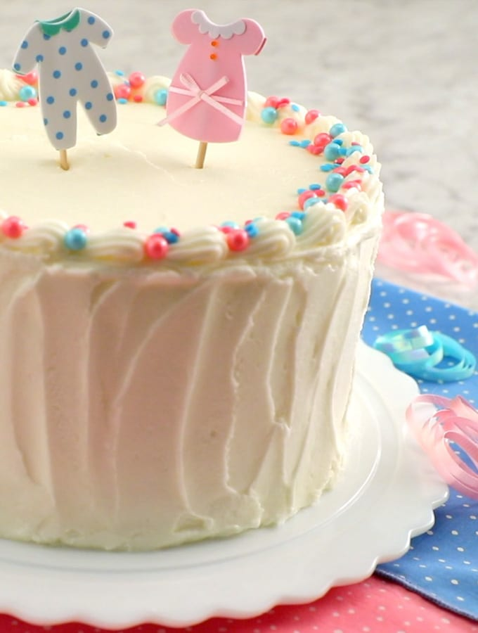 White Sour Cream Layered Cake slider image 2