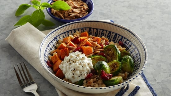 Warm Winter Veggie Bowl With Cottage Cheese